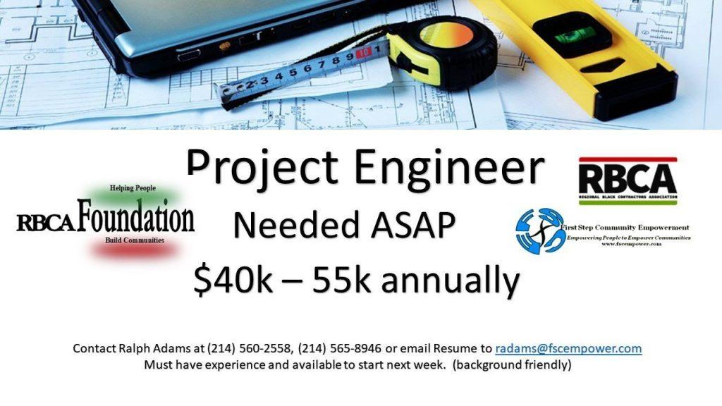 FSCE job lead Project engineer 4-17-19