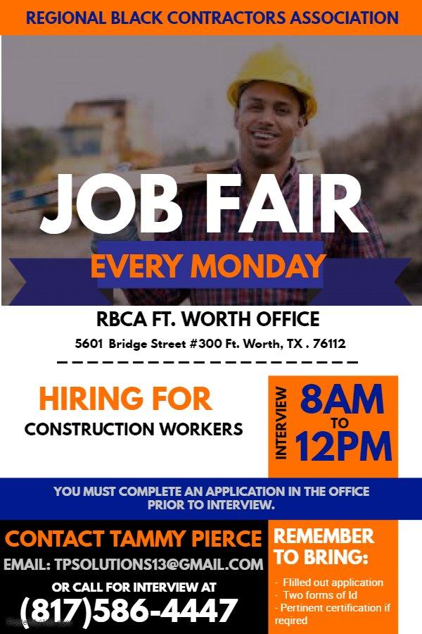 FT worth job fair flyer